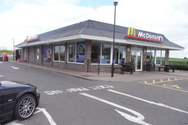 McDonald's, Wellingborough before the re-spray